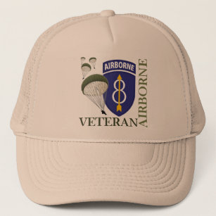 6319c0f7754 8th Infantry Division Airborne Trucker Hat