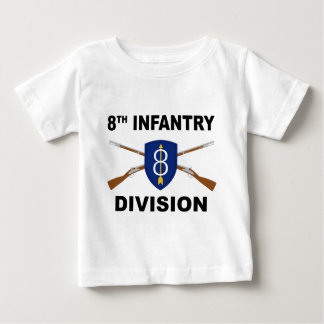 8th Infantry Division - Crossed Rifles Baby T-Shirt