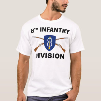 8th Infantry Division - Crossed Rifles T-Shirt