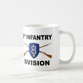 8th Infantry Division - Crossed Rifles - With Text Coffee Mug