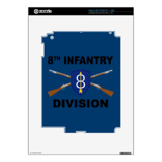 8th Infantry Division - Crossed Rifles - With Text Decals For The iPad 2
