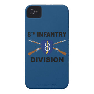 8th Infantry Division - Crossed Rifles - With Text iPhone 4 Cover
