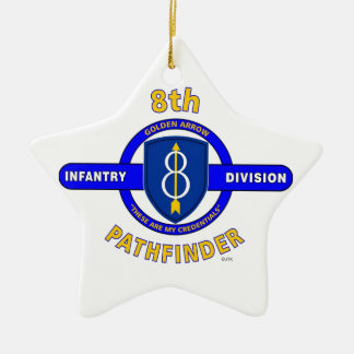 "8TH INFANTRY DIVISION ""PATHFINDER"" CERAMIC ORNAMENT"