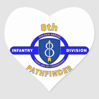 "8TH INFANTRY DIVISION ""PATHFINDER"" HEART STICKER"