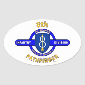 "8TH INFANTRY DIVISION ""PATHFINDER"" OVAL STICKER"
