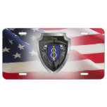""":  8th Infantry Division """"Pathfinder"""" Shield License Plate"""