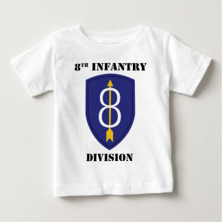 8th infantry Division With Text Baby T-Shirt