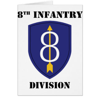 8th infantry Division With Text Card