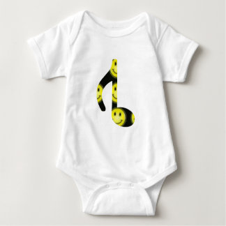 8th Inverted happy face Baby Bodysuit