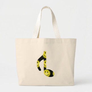 8th Inverted happy face Large Tote Bag