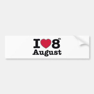 8th  july birthday design bumper sticker