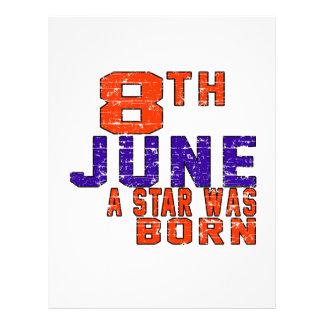 8th June a star was born Letterhead