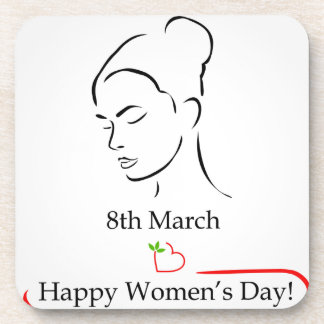 8th March womens day greetings Beverage Coaster