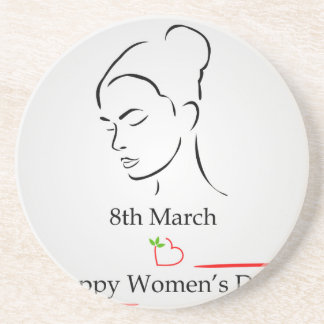 8th March womens day greetings Drink Coaster
