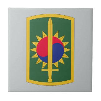 8th Military Police Brigade Small Square Tile