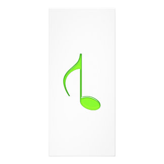 8th Music Note Flipped Lime green Size Grande 2010 Rack Card