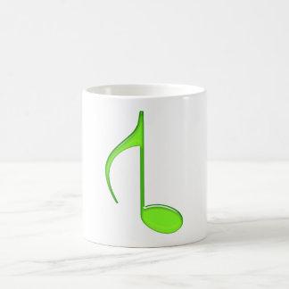 8th Music Note Turned grande green 2010 Coffee Mug