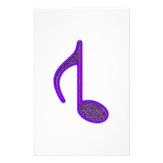 8th Musical Note Reversed Large Created 2010 Stationery