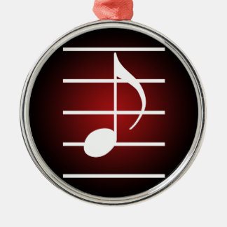 8th note 2 metal ornament