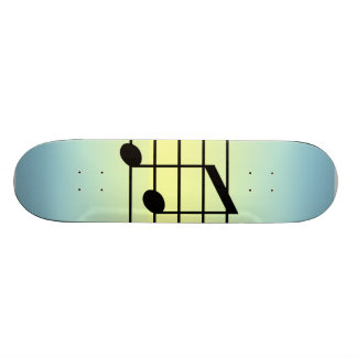 8th note 3 skate deck