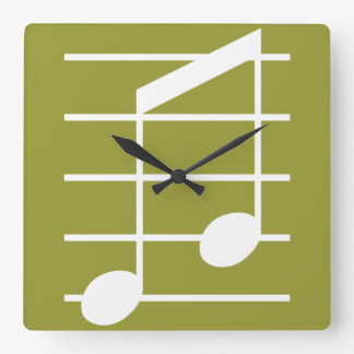 8th note 4 square wall clock