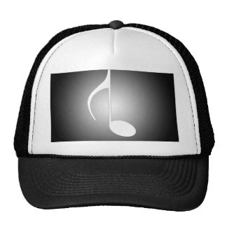 8th Note Black Reversed With White Spotlight Trucker Hat