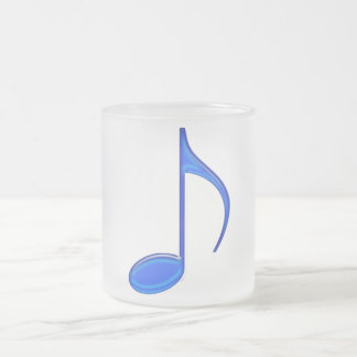 8th Note Blue Large 2010 Frosted Glass Coffee Mug
