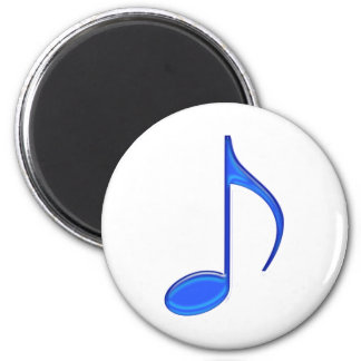 8th Note Blue Large 2010 2 Inch Round Magnet