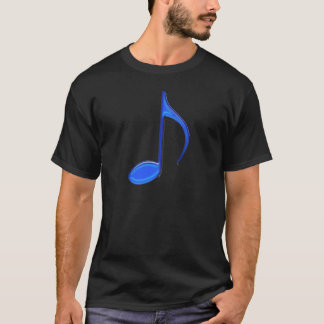 8th Note Blue Large Emboss T-Shirt