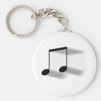 8th Note Blur Keychain