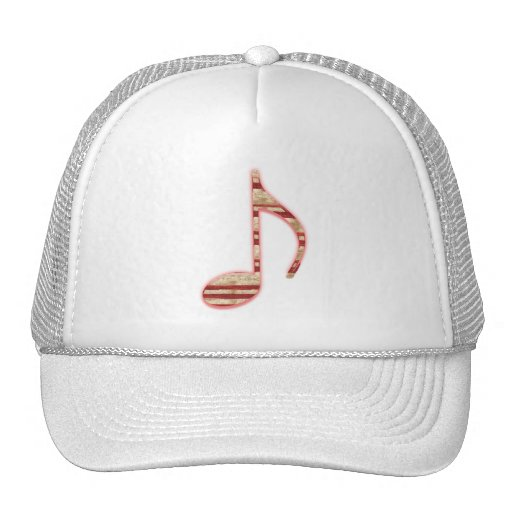8th Note Candy Cane or Peppermint Hat