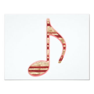 8th Note Candy Cane or Peppermint 4.25x5.5 Paper Invitation Card