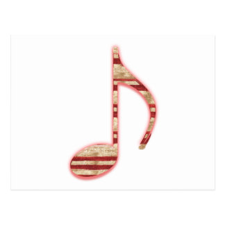 8th Note Candy Cane or Peppermint Postcard