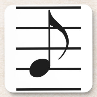 8th note drink coaster