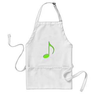 8th Note Green solid Large 2010 Adult Apron