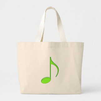 8th Note Green solid Large 2010 Jumbo Tote Bag
