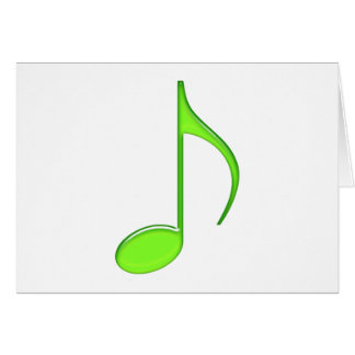 8th Note Green solid Large 2010 Greeting Cards