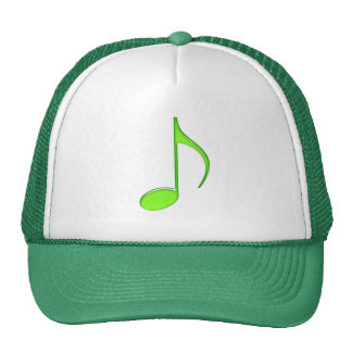 8th Note Green solid Large 2010 Trucker Hat
