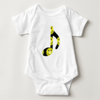 8th Note Happy Face Large 2010 Baby Bodysuit