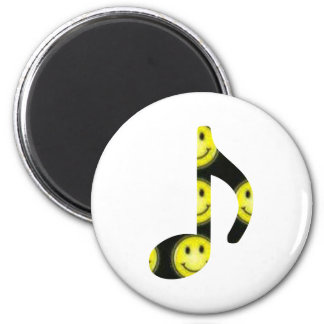 8th Note Happy Face Large 2010 Magnet