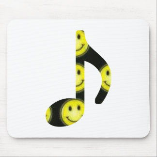8th Note Happy Face Large 2010 Mouse Pad