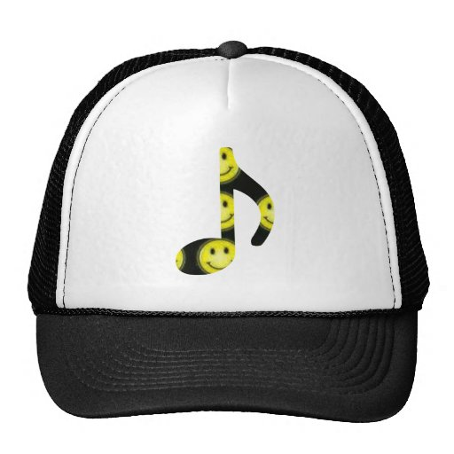 8th Note Happy Face Large 2010 Trucker Hat