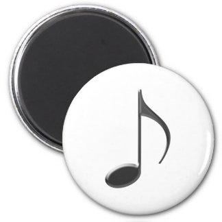 8th Note Large Black 2010 2 Inch Round Magnet