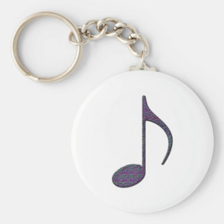 8th Note Large Keychain