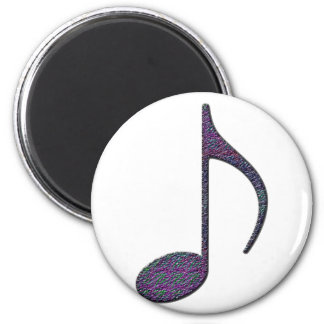8th Note Large 2 Inch Round Magnet