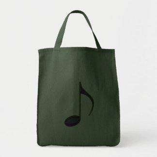 8th Note Large Purplish Grocery Tote Bag