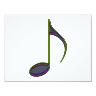 8th Note Large Purplish Card