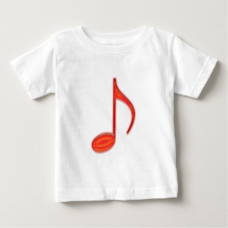 8th Note Large Red Plastic 2010 Baby T-Shirt