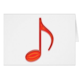 8th Note Large Red Plastic 2010 Card