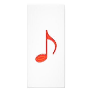 8th Note Large Red Plastic 2010 Rack Card